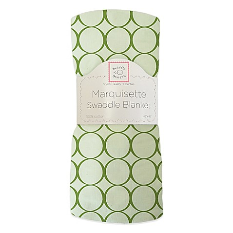 SwaddleDesigns® Mod Circles Swaddling Blanket in Green