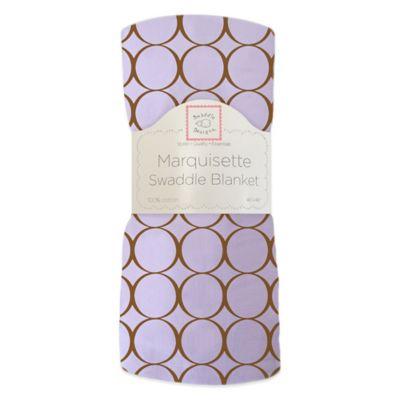 Swaddle Designs® Mocha Mod Circles Marquisette Swaddling Blanket in Lavender