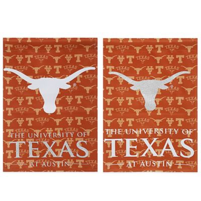 University of Texas Double-Sided Vertical Glitter Flag