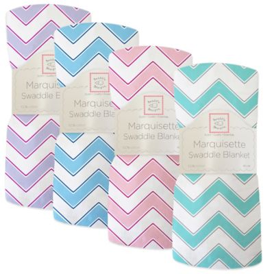 SwaddleDesigns® Chevron Marquisette Swaddle Blanket in Lavender