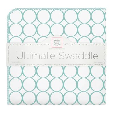 SwaddleDesigns® Mod Circles Ultimate Swaddle in Sea Crystal