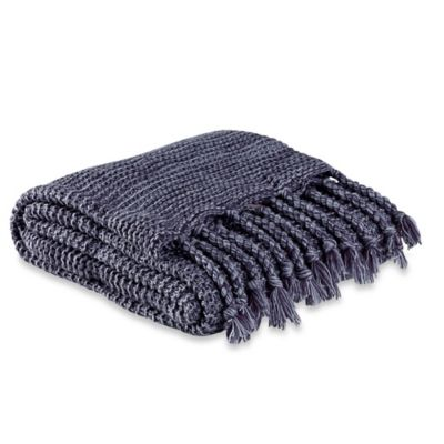 Kenneth Cole Reaction Home Mélange Throw in Indigo