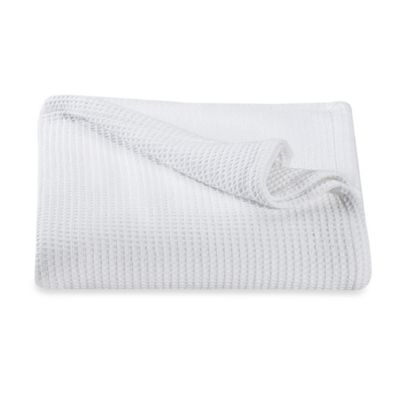 Kenneth Cole Reaction Home Waffle Full/Queen Blanket in White
