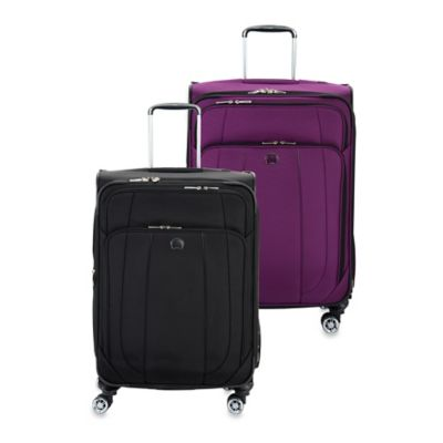 DELSEY Helium Cruise 25-Inch Expandable Spinner Suitcase in Black