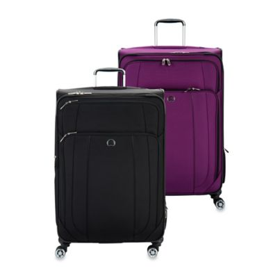 DELSEY Helium Cruise 29-Inch Expandable Spinner Suitcase in Purple