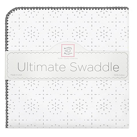 Swaddle Designs® Sterling Sparklers Flannel Swaddling Blanket