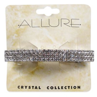 Allure Crystal Collection 3-Row Barrette with Crystal