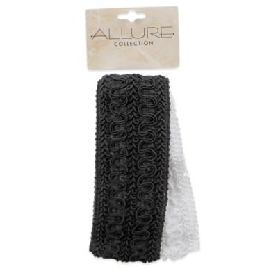 Allure 2-Pack Brocade Headwrap in Black/White