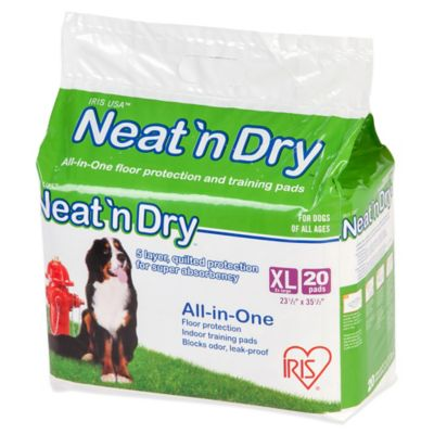 IRIS USA Neat 'n Dry™ 20-Pack XL Floor Protection and Training Pads