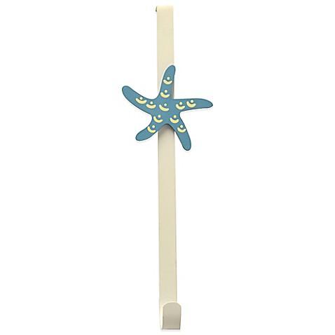 15 inch over the door starfish wreath hanger bed bath for 15 inch door