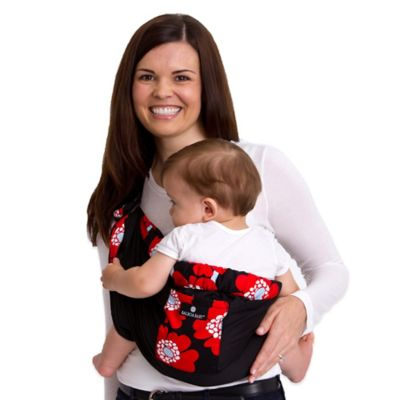 Balboa Baby® Dr. Sears Original Adjustable Baby Sling in Black with Red Poppy Trim
