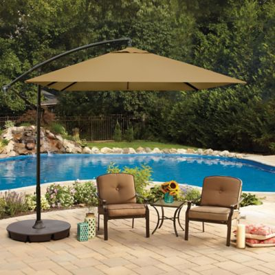 8-Foot Square Cantilever Umbrella in Salsa