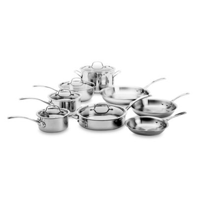 Tri-Ply Stainless Steel 13-Piece Cookware Set