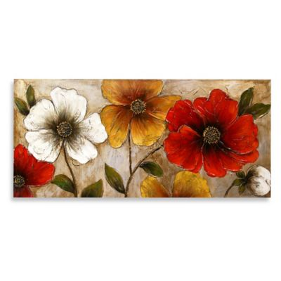 Bright Floral Lacquer Wall Art
