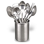 Eight-Piece Stainless Steel Kitchen Utensil Set