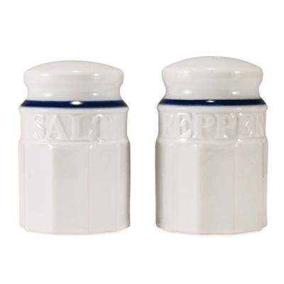 Everyday White® Blue Rim Salt & Pepper Shaker Set