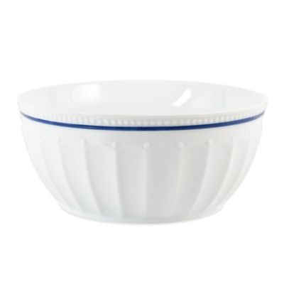 Everyday White® Blue Rim Fluted Serve Bowl
