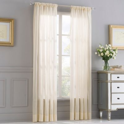 Valeron Opal Sheer 108-Inch Window Curtain Panel in Gold