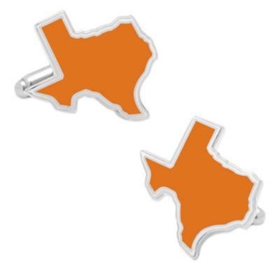 State of Texas Cufflinks in Orange