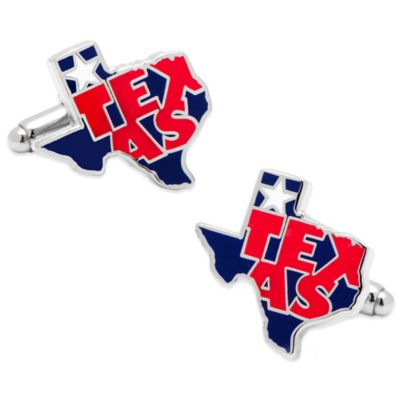 State of Texas Wrapped Cufflinks