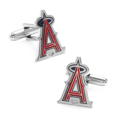 MLB Los Angeles Angels Silver-Plated Cufflinks
