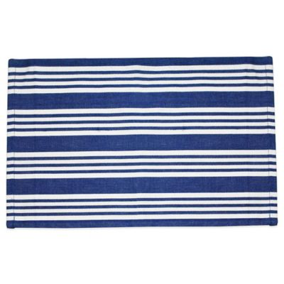 Anchor Beach Stripe Placemat in Blue/White