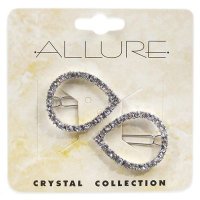 Allure Crystal Collection 2-Pack Rhinestone Barrette