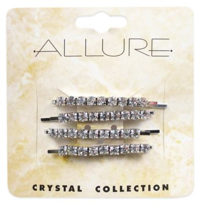 Crystal Collection 4-Pack Rhinestone Bobby Pins