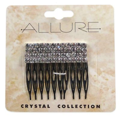 Allure Crystal Collection 2-Pack Rhinestone Side Comb