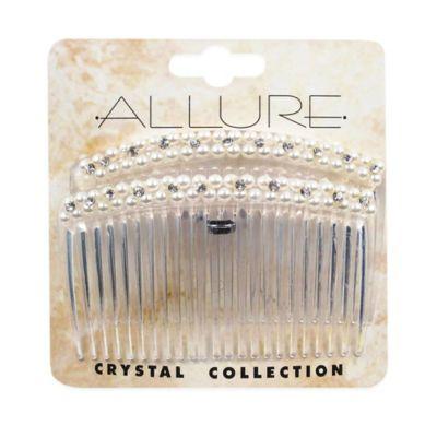 Allure 2-Count Pearl and Rhinestone Comb