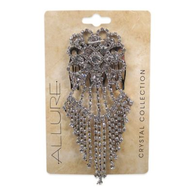 Allure Rhinestone Side Dangle Hair Comb