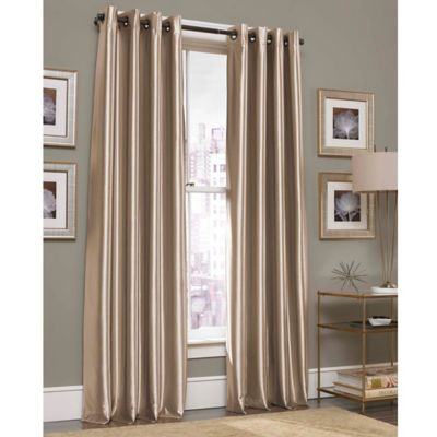 Gardnera 63-Inch Grommet Top Window Curtain Panel in Gold