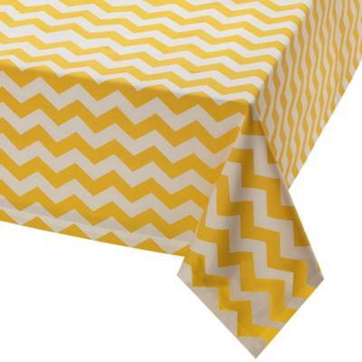 Snapdragon Chevron 60-Inch x 84-Inch Oblong Tablecloth