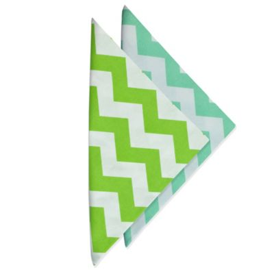 Spa Chevron Printed Napkin in Blue