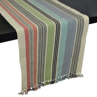 Mediterranean Stripe 72-Inch Table Runner