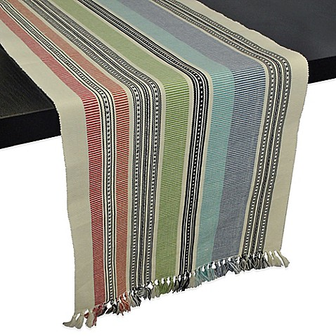 Mediterranean stripe 72 inch table runner bed bath beyond for Table runners 52 inches