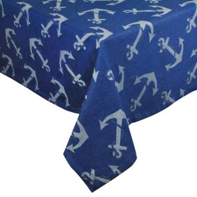 Anchors Away 60-Inch x 84-Inch Oblong Tablecloth