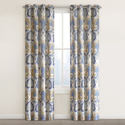 Echo Design™ Jaipur Grommet Top 84-Inch Window Curtain Panel in Grey