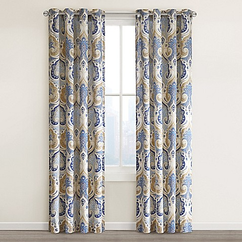 Echo design jaipur grommet top window curtain panel bed for Window panel design
