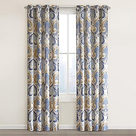 Echo design jaipur grommet top window curtain panel bed for Window panel design