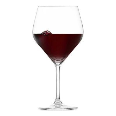 Dishwasher Safe Burgundy Glasses
