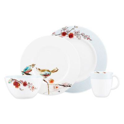 Lenox® Chirp Stripe 4-Piece Place Setting