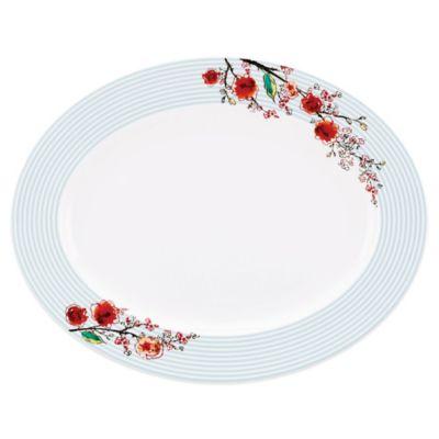 Striped China Platters