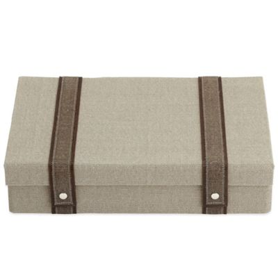 Artisan Woven Flatware Chest in Taupe