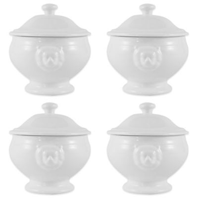 Maxwell & Williams™ White Basics Lion Lidded Soup Bowls (Set of 4)