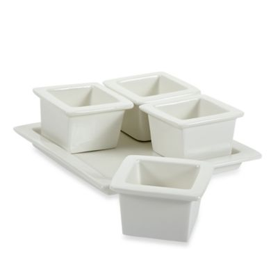 Maxwell & Williams™ White Basics 5-Piece Vogue Condiment Set