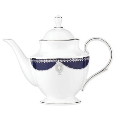 Marchesa by Lenox® Empire Pearl Indigo Teapot