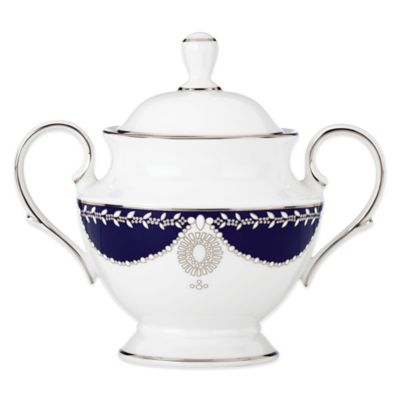 Marchesa by Lenox® Empire Pearl Indigo Covered Sugar Bowl
