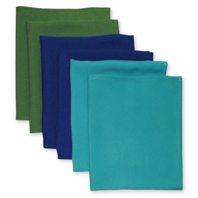 Solid Napkins in Cool Tones (Set of 6)