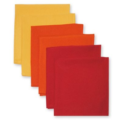 Solid Napkins in Warm Tones (Set of 6)